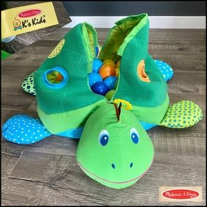 Melissa and Doug K's Kids Turtle Ball Pit Toy EUC